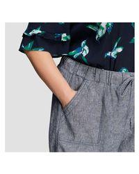Joe Fresh - Blue Women+ Linen Blend Roll Up Shorts - Lyst
