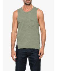 Joe's Jeans   Green Arrie Crew Notch Tank for Men   Lyst