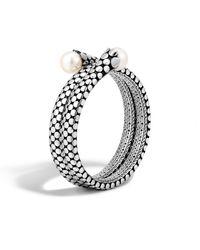 John Hardy - Metallic Dot Double Coil Bracelet - Lyst