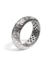 John Hardy - Metallic Naga Cuff With Black Sapphire - Lyst