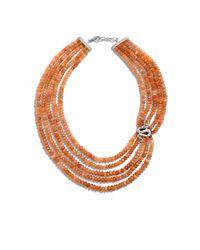 John Hardy - Multicolor Cobra Bead Necklace With Peach Moonstone - Lyst