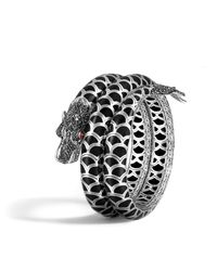 John Hardy | Naga Double Coil Bracelet With Black Sapphire | Lyst