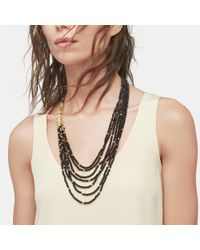 John Hardy - Naga Necklace With Black Mother Of Pearl, Dia - Lyst