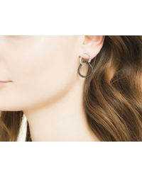 John Hardy - Classic Chain Drop Earring With Black Sapphire - Lyst