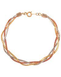 John Lewis - Metallic Susan Caplan Vintage Mixed Plated Braided Chain Bracelet - Lyst