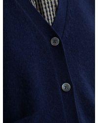 Toast - Blue Wool Cashmere Blend Cardigan - Lyst
