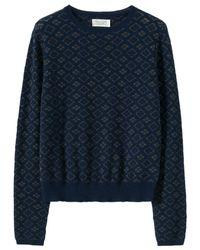 Toast | Blue Metallic Knit Jumper | Lyst