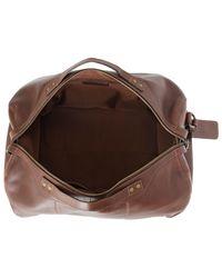 John Lewis - Brown Gladstone 2.0 Leather Barrel Bag for Men - Lyst