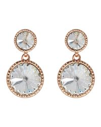 Ted Baker | Metallic Ronda Crystal Drop Earrings | Lyst