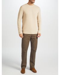 John Lewis - Natural Waffle Knit Top for Men - Lyst