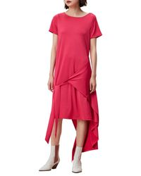Finery London - Pink Silsby Wrap T-shirt A-line Dress - Lyst