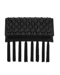 Reiss | Black Belle Tassel Clutch Bag | Lyst