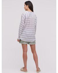 Jigsaw - Blue Stripe Chino Shorts - Lyst