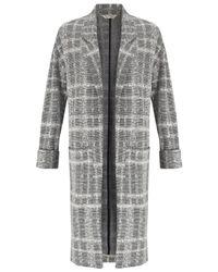 Miss Selfridge | Gray Longline Duster Coat | Lyst