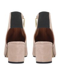 KG by Kurt Geiger - Pink Raw Peep Toe Ankle Boots - Lyst