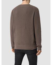 AllSaints - Blue Trias Crew Sweater for Men - Lyst