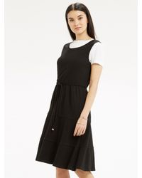 Oasis | Black Cheesecloth Tiered Dress | Lyst
