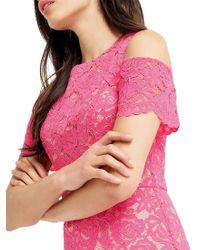 Oasis - Pink Lace Cold Shoulder Dress - Lyst