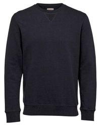 SELECTED - Blue Boris Crew Neck Sweatshirt for Men - Lyst