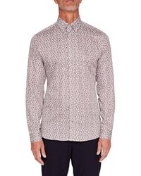 Ted Baker | White T For Tall Lysee Long Sleeve Shirt for Men | Lyst