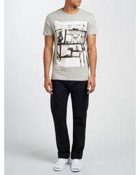 DIESEL - Gray T-diego-hf Print T-shirt for Men - Lyst