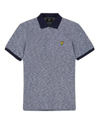 Lyle & Scott | Blue Oxford Slub Pique Polo Shirt for Men | Lyst