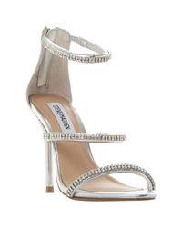 Steve Madden | Metallic Wren-r Sm Jewelled Strap Stiletto Sandals | Lyst