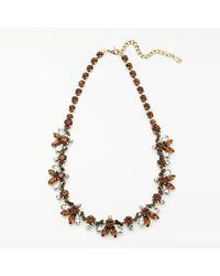 John Lewis - Metallic Crystal Statement Necklace - Lyst
