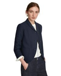 Toast - Blue Wool Cotton Flannel Jacket - Lyst