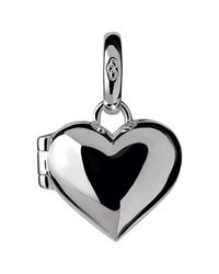 Links of London | Metallic Sterling Silver Heart Locket Charm | Lyst
