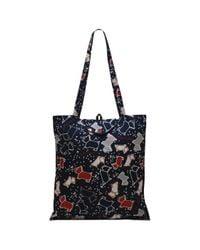 Radley - Black Speckle Dog Foldaway Tote Bag - Lyst
