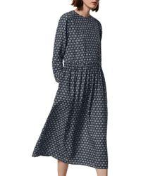 Toast | Blue Daisy Print Dress | Lyst