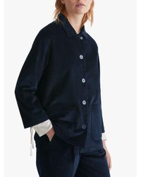 Toast - Blue Cotton Cord Jacket - Lyst