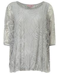 Phase Eight - Metallic Cecily Burnout Top - Lyst