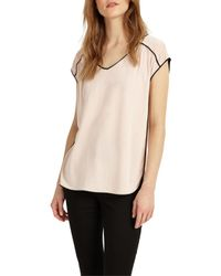 Phase Eight | Multicolor Pippa Piped Edge T-shirt | Lyst