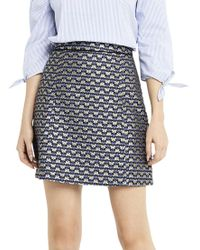 589607aabcc8 Oasis Butterfly Print Jacquard Mini Skirt in Blue - Lyst
