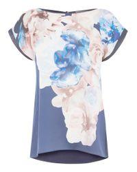 Coast - Blue Nara Printed Top - Lyst