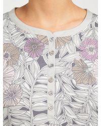 John Lewis - Gray Lucinda Floral Jersey Nightdress - Lyst