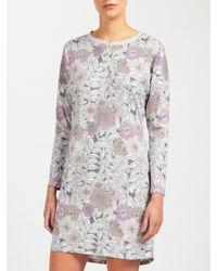 John Lewis | Gray Lucinda Floral Jersey Nightdress | Lyst