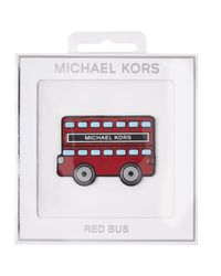 MICHAEL Michael Kors - White Red Bus Leather Sticker - Lyst