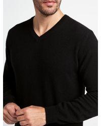John Lewis | Black Made In Italy Cashmere V-neck Jumper for Men | Lyst