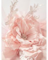 Peter Bettley - Pink Viola Side Up Crin Detail Occasion Hat - Lyst