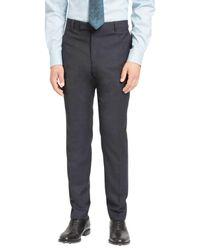 Jaeger - Blue Super 100s Wool Mouline Slim Fit Suit Trousers for Men - Lyst