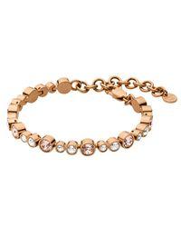 Dyrberg/Kern - Multicolor Dyrberg/kern Round Swarovski Crystals Tennis Bracelet - Lyst