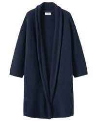 Toast - Blue Knitted Tweed Coat - Lyst