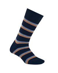 Paul Smith | Blue Multi-stripe Block Socks for Men | Lyst