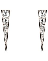 Melissa Odabash - Metallic Swarovski Crystal Arrow Drop Earrings - Lyst