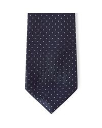 Jaeger - Blue Silk Pin Dot Modern Tie for Men - Lyst