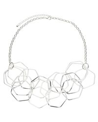 John Lewis - Metallic Hexagonal Necklace - Lyst