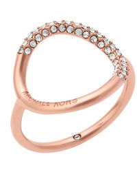 Michael Kors - Multicolor Open Circle Crystal Pavé Ring - Lyst